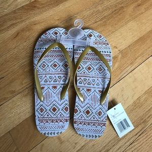 Aztec Style Flip Flops