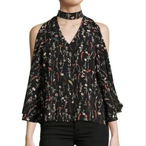 Cold Shoulder Print Top by Design Lab.