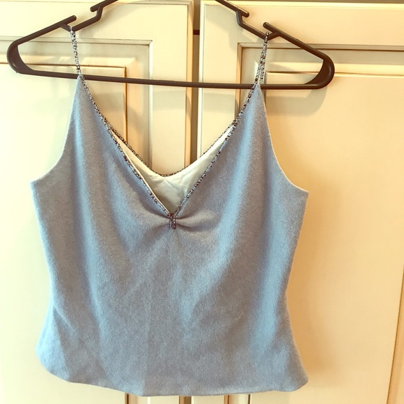 Richard Tyler Couture Tops - Richard Tyler couture cropped cashmere cami size s