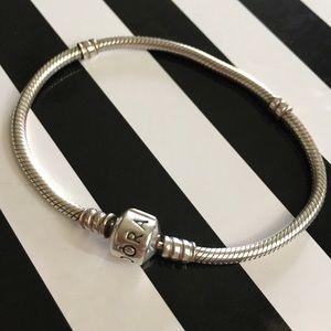 Pandora Jewelry - PANDORA STERLING SILVER BARREL CLASP BRACELET