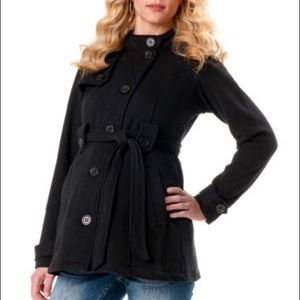Adorable button-up maternity coat