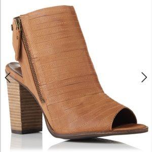 New Superdry peep toe wedge bootie sandals heels