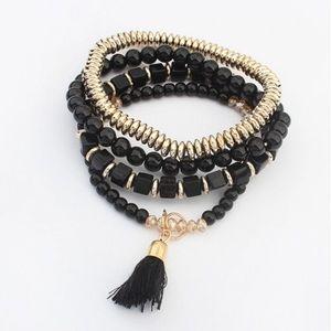 Black & Gold Stackable Bracelet Set🖤