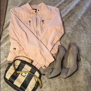 Gap dusty pink motorcycle jacket blazer S