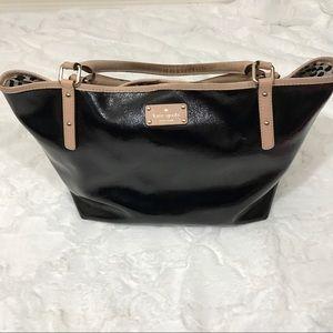 kate spade Handbags - Kate spade black purge bag LARGE leopard