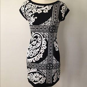 White House Black Market Dresses - White House Black Market Print Silk Dress