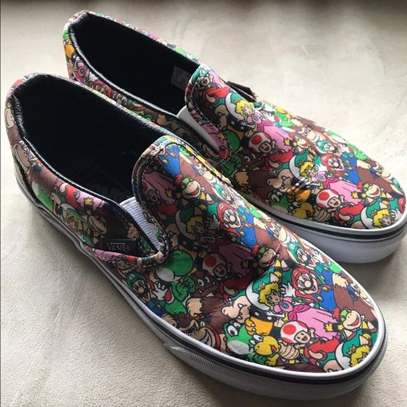 Vans Shoes | Nintendo Slip Ons | Poshmark