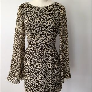 Dolce Vita Animal Print Dress with Bell Sleeves