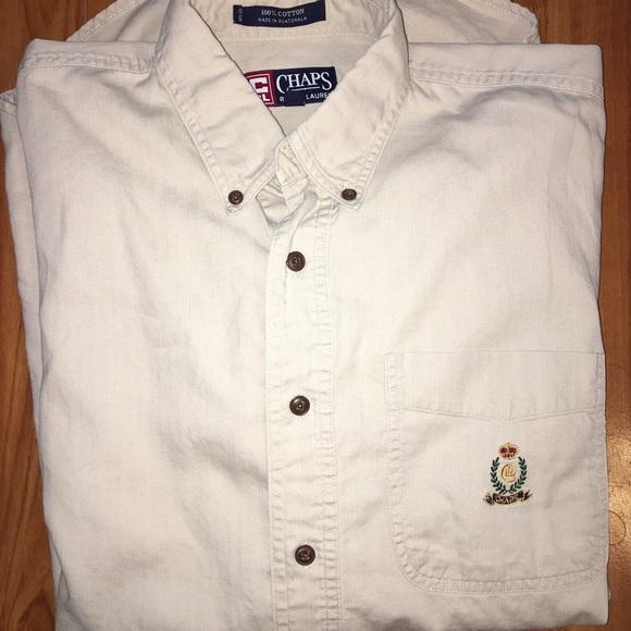 Chaps ralph lauren chaps tan ls button down shirt from for Chaps button down shirts
