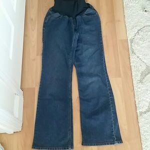 Motherhood Maternity Denim - Flare leg over the belly maternity jeans. Size med