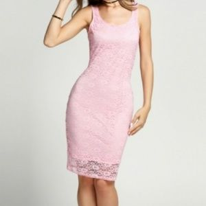 Dresses & Skirts - Pink Lace Pencil Dress