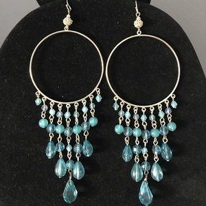 bebe Jewelry - Blue BeBe Beaded Dangle Earrings