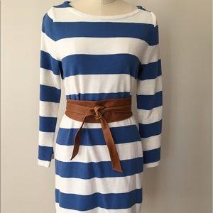 J. Crew Long Sleeve Cotton Striped Dress
