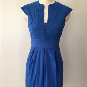BCBGMaxAzria Blue Cap Sleeve Dress