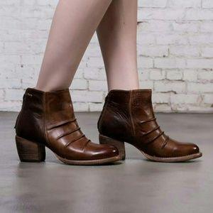 Bed Stu Shoes - Bed Stu Arcane Leather Boots, Cinnamon Teak Rustic