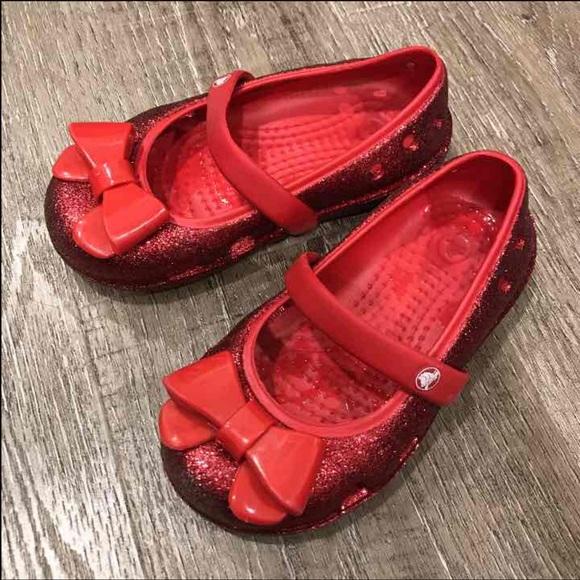 CROCS Shoes   Red Glitter   Poshmark