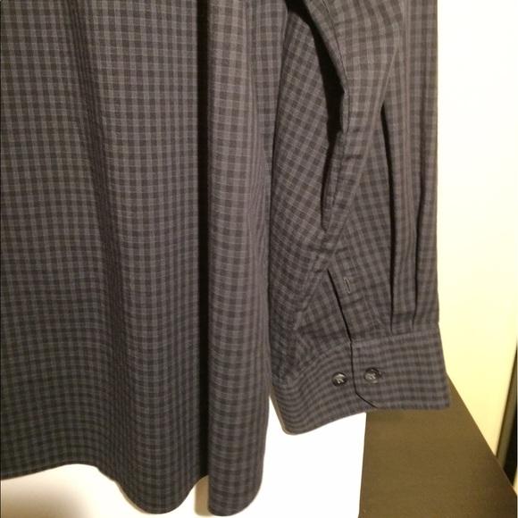Van heusen vanheusen black plaid slim fit dress shirt for Van heusen plaid shirts