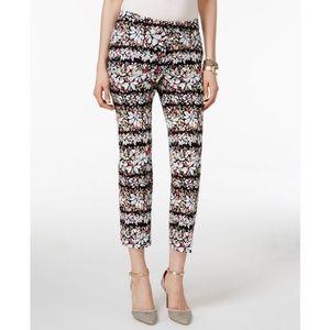 Anne Klein Pants - Anne Klein Floral Print Slim Ankle Pants 10