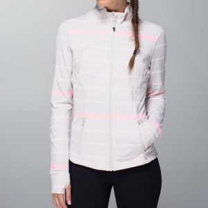 lululemon athletica Jackets & Blazers - RARE NEW Lululemon Forme Jacket Cuffins Pop Stripe