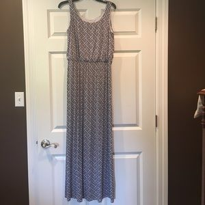 pixley Dresses & Skirts - Blue and White Maxi Dress