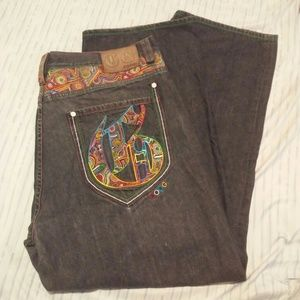 COOGI Other - Coogi Brand Size 44x35 Black Design Jeans