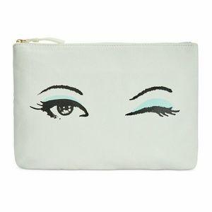 New! Kate Spade Gia Winking Cosmetic Makeup Bag