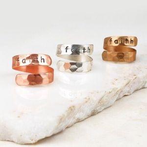 🆕Faith ring- rose gold
