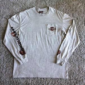 Harley-Davidson Other - Harley-Davidson Men's Long Sleeve Gray Shirt
