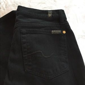 7 For All Mankind Denim - 7 for all mankind black denim jeans
