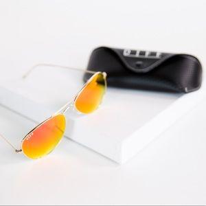 Diff Eyewear Accessories - DIFF CRUZ - yellow/gold - Mirror Lens Sunglasses