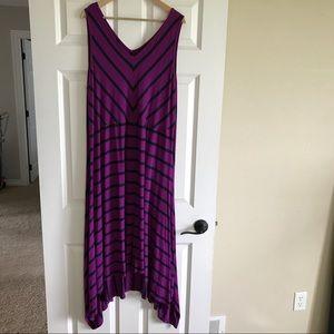 Lane Bryant Dresses & Skirts - Lane Bryant Maxi Tank Dress Striped