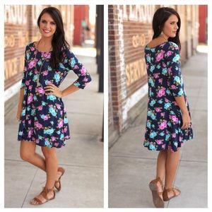Infinity Raine Dresses & Skirts - Floral Print Tunic Dress