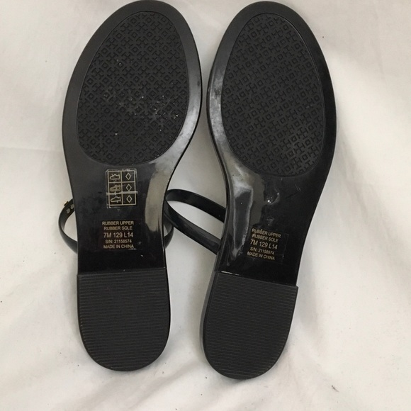 67 Off Tory Burch Shoes Tory Burch Navy Jelly Slip On