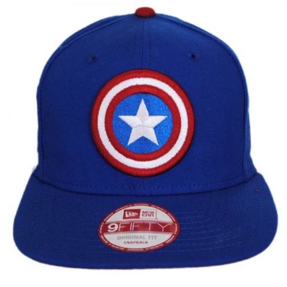 buy online 9b67e 96057 New Era 9Fifty Marvel Captain America Fitted Hat