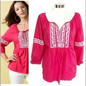 Charter Club Tops - NWT Charter Club Pink & White Embroidery Top