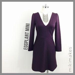 [ cooperative ]  NWT plum jacquard a-line dress