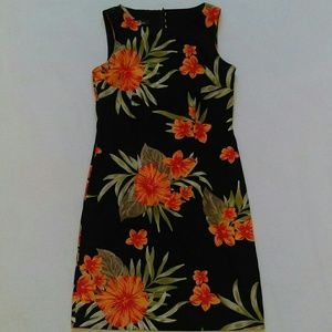 AGB Dresses & Skirts - AGB Dress orange Hawaiian print dress