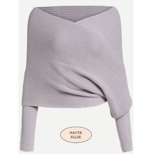 Haute Ellie Sweaters - 🆕 Steele Gray Wrap Crop Sweater