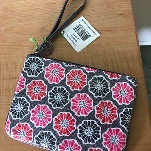 Vera Bradley Handbags - Vera Bradley Shimmer Wristlet in Blossoms. NWT