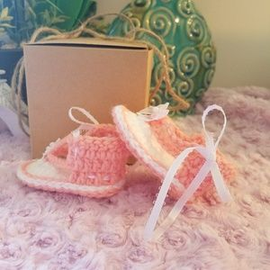 Other - Handmade Crochet Baby Sandals