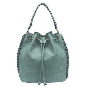 Melie Bianco Handbags - Coleen Powder Blue Crossbody Convertible Backpack