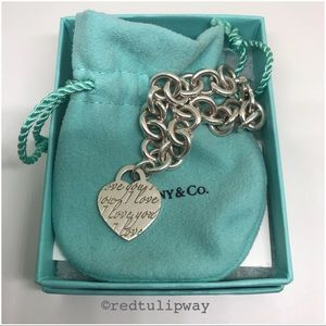 🌹SOLD🌹Auth Tiffany & Co. Notes Heart Bracelet