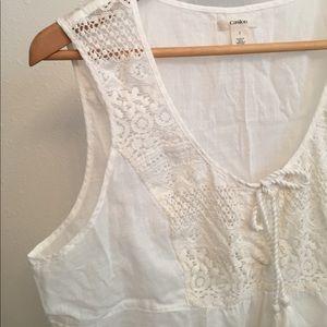 Caslon Tops - Caslon white lace tank top