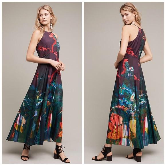 1cbb143fda9c Anthropologie Dresses | Cadence Printed Maxi Dress | Poshmark