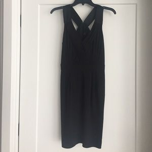 Banana Republic black sheath dress - V back