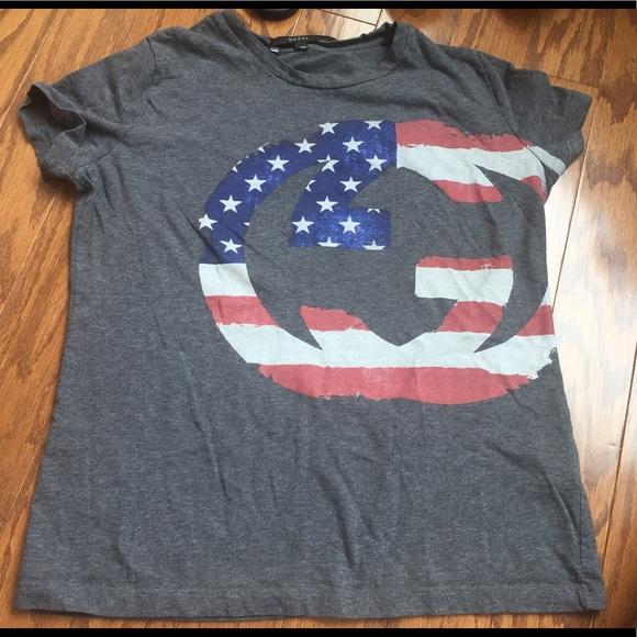 4f994848e655e1 Gucci Tops - 100% Authentic Gucci XS American Flag Logo Shirt