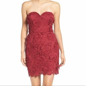 As U Wish Dresses & Skirts - Strapless Lace Dress