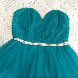 City Triangles Dresses & Skirts - Teal blue party dress prom dress