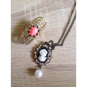 Necklace and ring bundle.