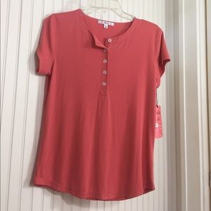 CAbi Tops - CAbi Henley Tee Style #263
